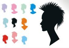Estilos de pelo de la mujer dos Fotografía de archivo libre de regalías