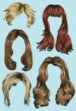 Estilos de pelo de las varias mujeres Fotografía de archivo libre de regalías