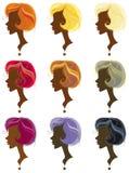 Estilos del color del pelo. Foto de archivo libre de regalías