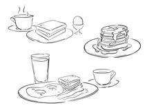 Estilos del desayuno Foto de archivo libre de regalías