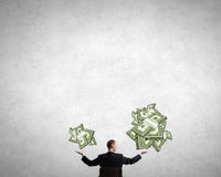 Estimate your money income Royalty Free Stock Photo
