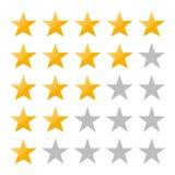 estimation cinq étoiles Illustration EPS10 de vecteur Insigne d'isolement pour le site Web ou l'APP - infographics courant illustration stock