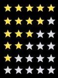 Estimation d'étoile illustration de vecteur