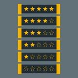 Estimation d'étoile dans le thème foncé Photo libre de droits