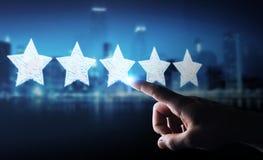 Estimation d'homme d'affaires avec les étoiles tirées par la main Image stock
