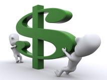 Estique seu dinheiro Fotos de Stock Royalty Free