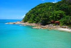 Estiramento de Islolated da praia em Ko Phangan Fotos de Stock
