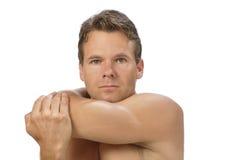 Estiramento do ombro Fotografia de Stock