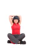 Estiramento do Triceps Fotografia de Stock