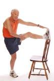Estiramentos sênior do pé Foto de Stock Royalty Free