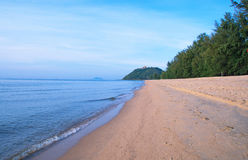 Estiramiento de la playa sola Imagen de archivo