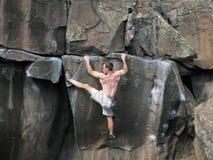Estiramientos del escalador Imagen de archivo
