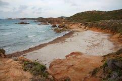 Estiramientos del mar y de la playa Foto de archivo