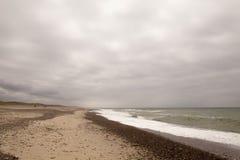 Estiramientos sin fin largos de la playa Fotos de archivo libres de regalías