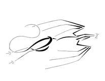 Estirar el dragón, línea arte estilizada libre illustration