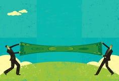 Estirar un dólar Imagen de archivo libre de regalías