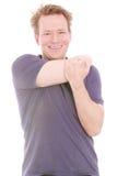 Estire su hombro Foto de archivo libre de regalías