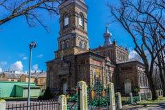 Estländare - stad av Parnu - apostolisk kyrka - Showplace royaltyfri foto