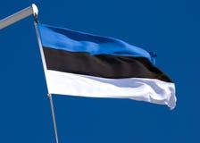Estländsk flagga Arkivbild