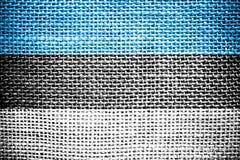 Estländsk flagga. Arkivbild