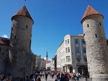 Estland塔林老镇 免版税库存图片