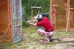 """Estland †""""Juuli 25-26, IPSC-estländare öppnar mästerskapet 2015 Arkivbild"""