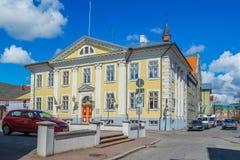 Estland - stad av Parnu - stadsgalleri - Showplace royaltyfria bilder