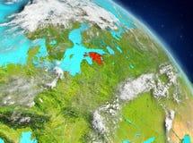 Estland van baan royalty-vrije illustratie