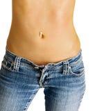 Estómago delgado atractivo Fotografía de archivo
