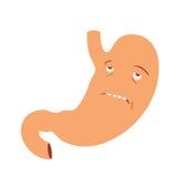 Estómago triste Foto de archivo libre de regalías