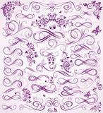 Estêncil violeta do casamento Fotografia de Stock Royalty Free