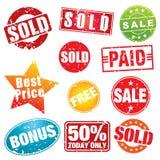 Estêncis da venda Imagem de Stock