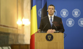 Estnischer Premierminister Juri Ratas Stockfotografie