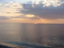 Estnischer Sonnenuntergang Stockfotos