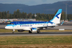Estończyk Lotniczy Embraer 170 Obraz Royalty Free