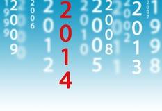 2014 estão aqui Imagens de Stock