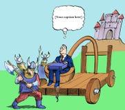 Esto debe catapultar mi carrera de Vikingos stock de ilustración