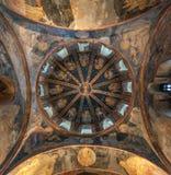 Opinión de la bóveda del museo de Kariye, Estambul Imágenes de archivo libres de regalías