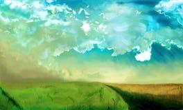 Esto es un paisaje soleado fotografía de archivo libre de regalías