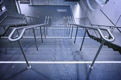 Escalera del metro Imagen de archivo