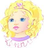 Esto es una niña agradable libre illustration