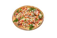 Esto es una pizza sabrosa Fotos de archivo
