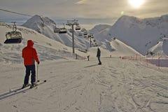 Esto-Sadok (Sochi, Rússia) é uma das melhores estâncias de esqui do inverno nas regiões subtropicais fotografia de stock
