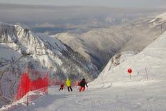 Esto-Sadok (Sochi, Ryssland) är en av den bästa vintern skidar semesterorter i subtropiska trakterna Fotografering för Bildbyråer