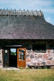 Estoński architektury stajni dom w Saaremaa Abruka Obraz Stock