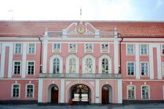 Estoński parlamentu budynek w starym miasteczku Tallin Zdjęcie Stock