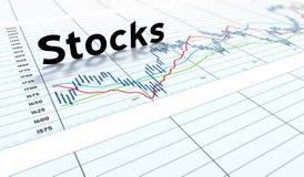 Estoca o gráfico do texto Imagem de Stock Royalty Free