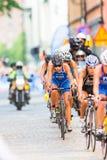 ESTOCOLMO - AGOSTO, 24: Un grupo con Vanessa Raw que completa un ciclo en la CRO (coordinadora) Imagenes de archivo
