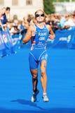 ESTOCOLMO - AGOSTO, 24: Vanessa Raw que corre en la etapa pasada en th Foto de archivo libre de regalías