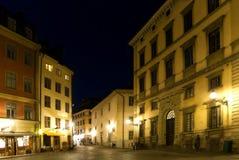 Estocolmo en la noche imágenes de archivo libres de regalías